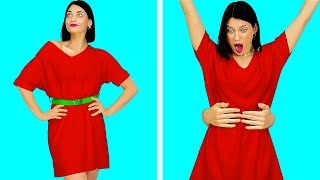 LAST MINUTE FIX! || 6 Girly Fashion DIY Clothes Hacks for Party Fashionistas by 123 GO! SCHOOL