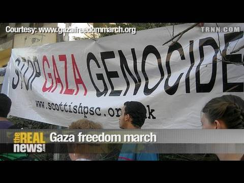 Gaza freedom march looking ahead
