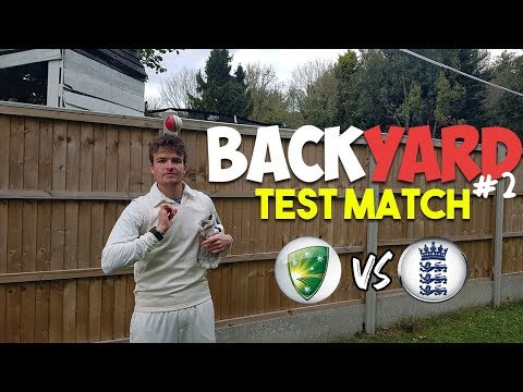 BACKYARD CRICKET | YOU WON'T BELIEVE THE RESULT! (Test Match