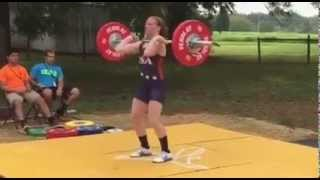 Girl Lifts Weights at Competition | Impressive!