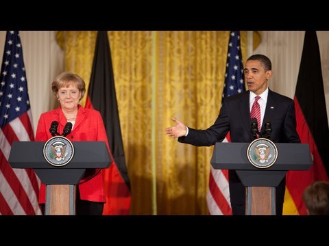 President Obama and Chancellor Merkel Of Germany