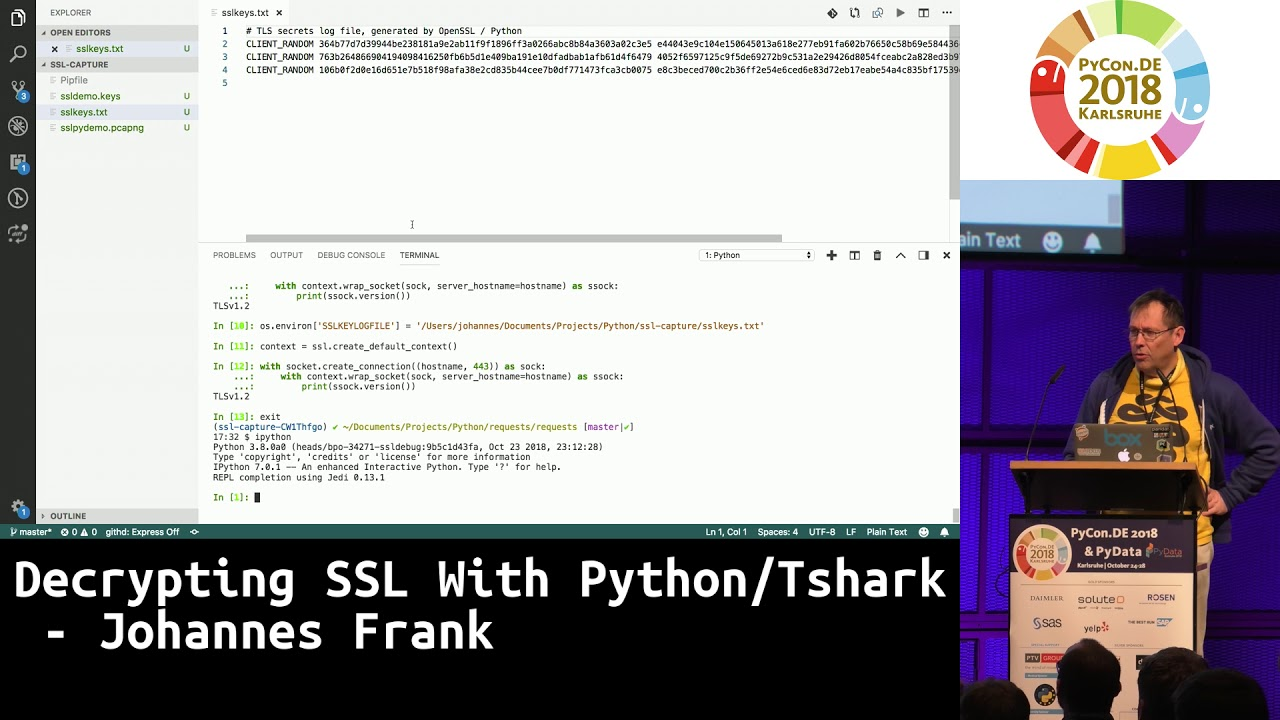 Image from Decrypting SSL With Python/Tshark