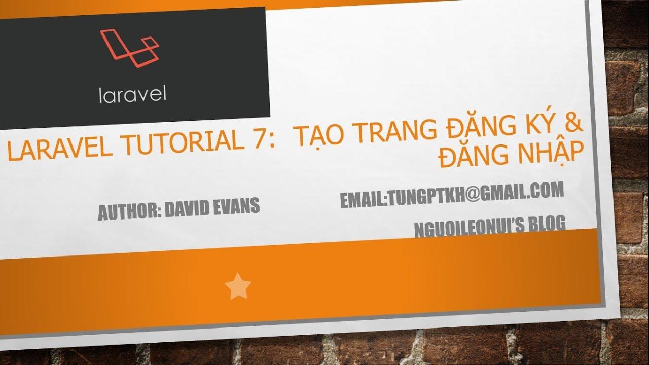 Laravel tutorial 7: Create Register & Login Page - Tạo trang