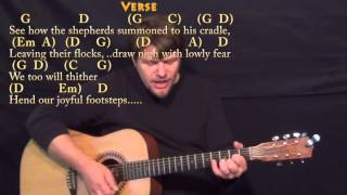 O Come All Ye Faithful (Christmas) Strum Guitar Cover Lesson in G with Chords/Lyrics