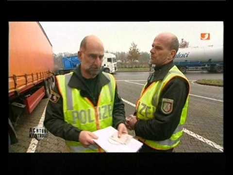 Autobahnpolizei - Polnischer LKW Fahrer / Police stop old polish trash truck