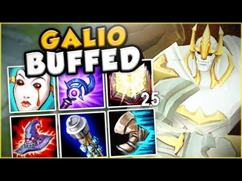 Download Youtube: THESE NEW GALIO BUFFS MAKE HIM LITERALLY GOD TIER! NEW BUFFED GALIO TOP GAMEPLAY! League of Legends
