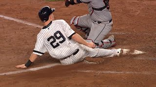 CLE@NYY Gm4: Frazier advances, then scores on sac fly