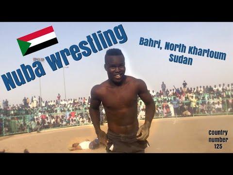 Traditional Nuba Fighting in Bahri (North Khartoum), Sudan - March 2017