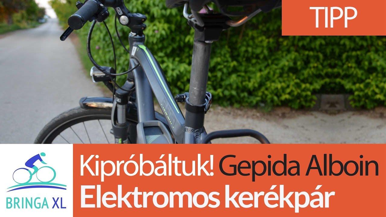 Elektromos kerékpár teszt