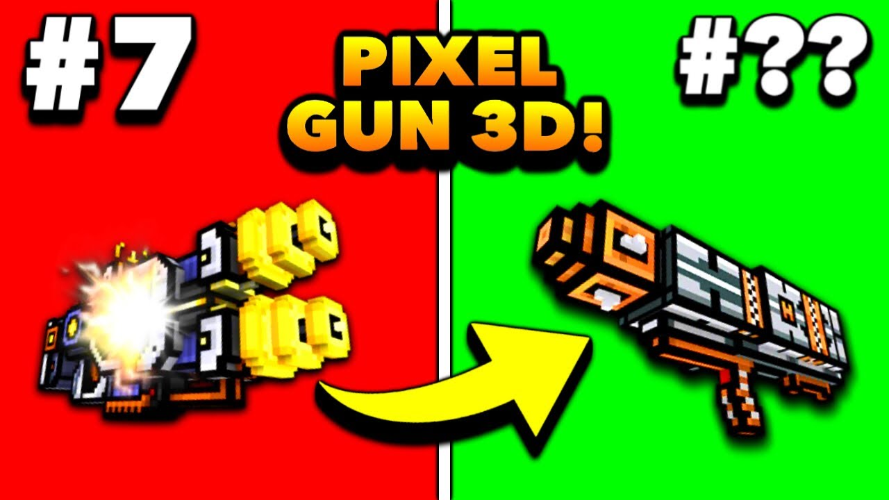 All Heavy Weapons in Pixel Gun 3D Ranked from Worst to Best 2021! (Tier List)