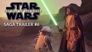 Star Wars 9: Rise of Skywalker - SAGA TRAILER #6    Daisy Ridley, Adam Driver
