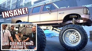 THE SICKEST OBS FORD AT SEMA! (PLUS WE GOT TATTOOS...)