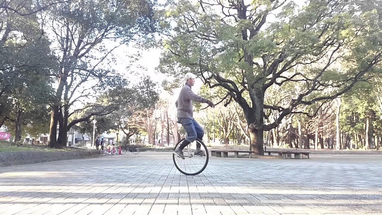 おやじ一輪車練(2017.02.12):29インチでアイドリング特訓っ - YouTube