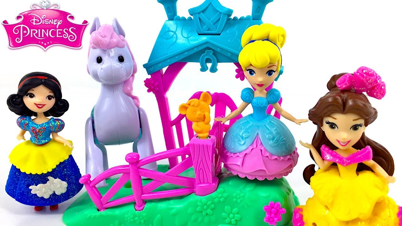Disney Princess Cinderella Magical Movers Pony Ride stable Toy Playset