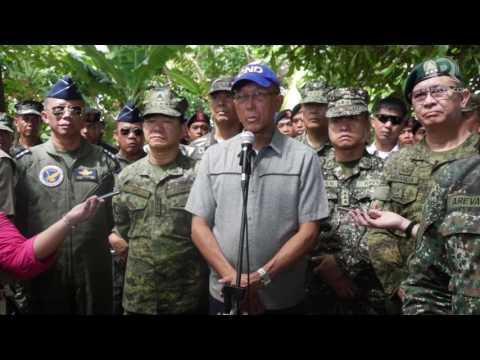 Defense Secretary Delfin Lorenzana visits Pag-Asa Island