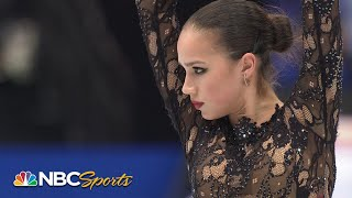 Olympic gold medalist Alina Zagitova wins ladies' free skate at world championships | NBC Sports