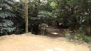 四王司山山頂の四王司神社の風景 山口県下関市