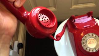 1973 Red GPO 746 Rotary Dial Telephone