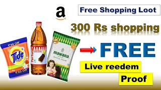 free 300 rs shopping tricks on  amazon with live proof|how to apply amazon 50% cashback offer live