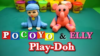 How to make POCOYO and ELLY with Playdoh / step by step tutorial.