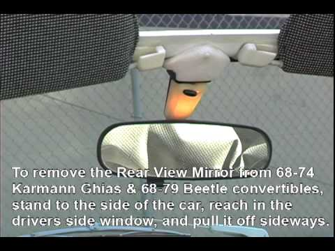 VW Rear View Mirror remove / install