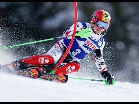 Race with alpine ski king, Marcel Hirscher
