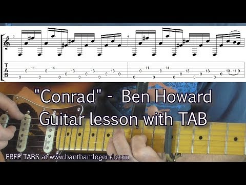 How to play - Conrad - Ben Howard - guitar lesson with TAB