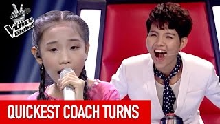 The Voice Kids | QUICKEST COACH TURNS [PART 2]