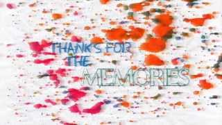 Fall Out Boy Thanks For The Memories Lyric Video HD HQ