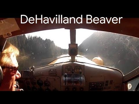 DeHavilland Beaver Seaplane Take-off from Lake Isabel - Cascade Mountain Lake