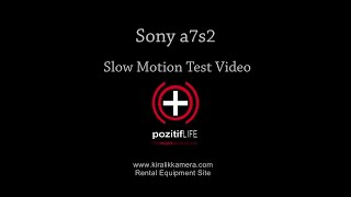 Sony A7 S2 Slow Motion Snow Footage Test