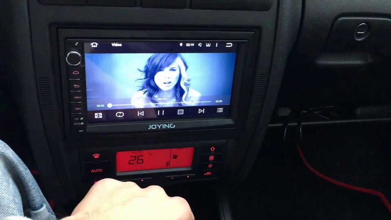 seat leon 1m 2din making joying car player youtube