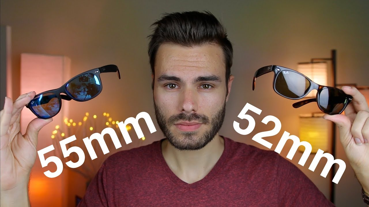 42dcb68c9b Ray-Ban New Wayfarer 52mm vs 55mm - YouTube