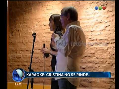 Cristina Pérez, de karaoke - Telefe Noticias