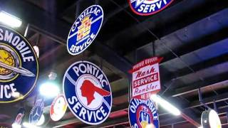 Spomer Classics - Sample of Automotive Service neon and porcelain adversting signs and clocks