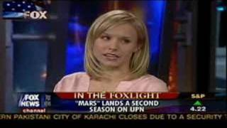 Kristen Bell Fox News interview hair by Davide Torchio