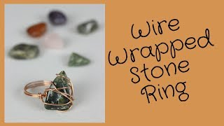 DIY Wire Wrapped Stone Ring