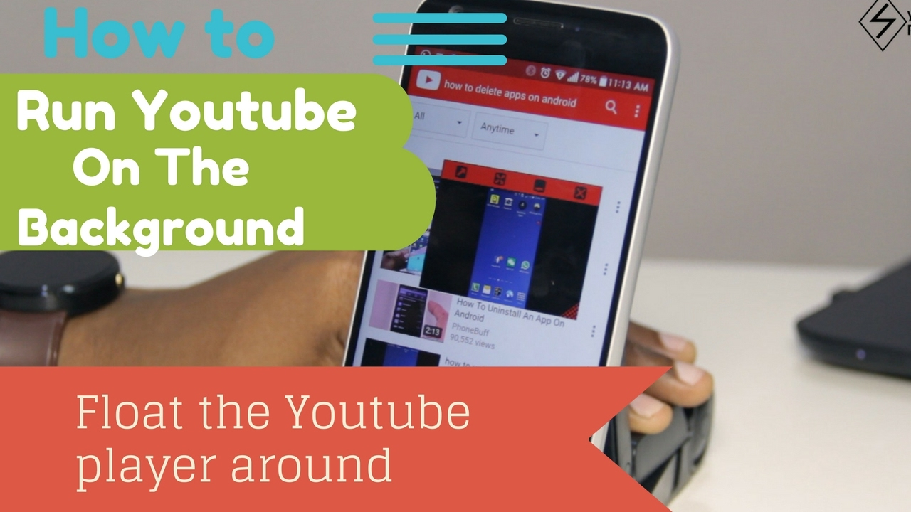 How to play YouTube on the background & float and drag the YouTube player  around