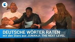 Deutsche Wörter raten mit den Stars aus JUMANJI - Dwayne Johnson und Kevin Hart