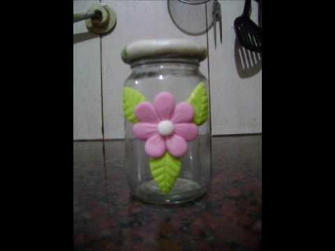 Como hacer un frasco decorado - YouTube