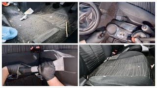 Detailing A Filthy Neglected Car Interior - Start To Finish! Mazda 2