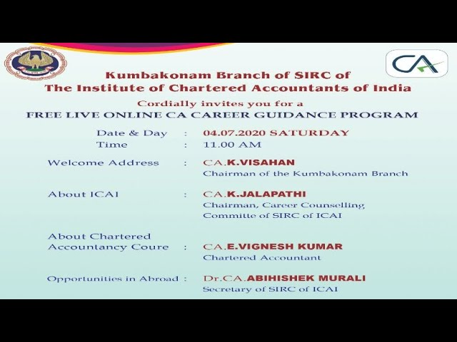 Free Live Online Ca Career Guidance Program Youtube
