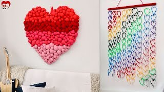 Unique Heart Wall Hanging Making Using Old Clothes !