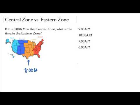 Time zones in USA with map