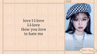 BLACKPINK - Love To Hate Me (Lyrics)