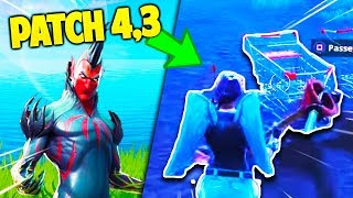 THE NEWS that you DON'T know about FORTNITE's PATCH 4.3 !