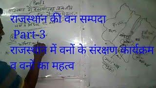 राजस्थान की वन सम्पदा Part-3, राजस्थान में वन संरक्षण कार्यक्रम व वनों का महत्व for Raj.level exam