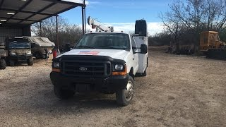 My service truck and tools-1999 Ford 7.3 powerstroke F450 crane truck Part 1