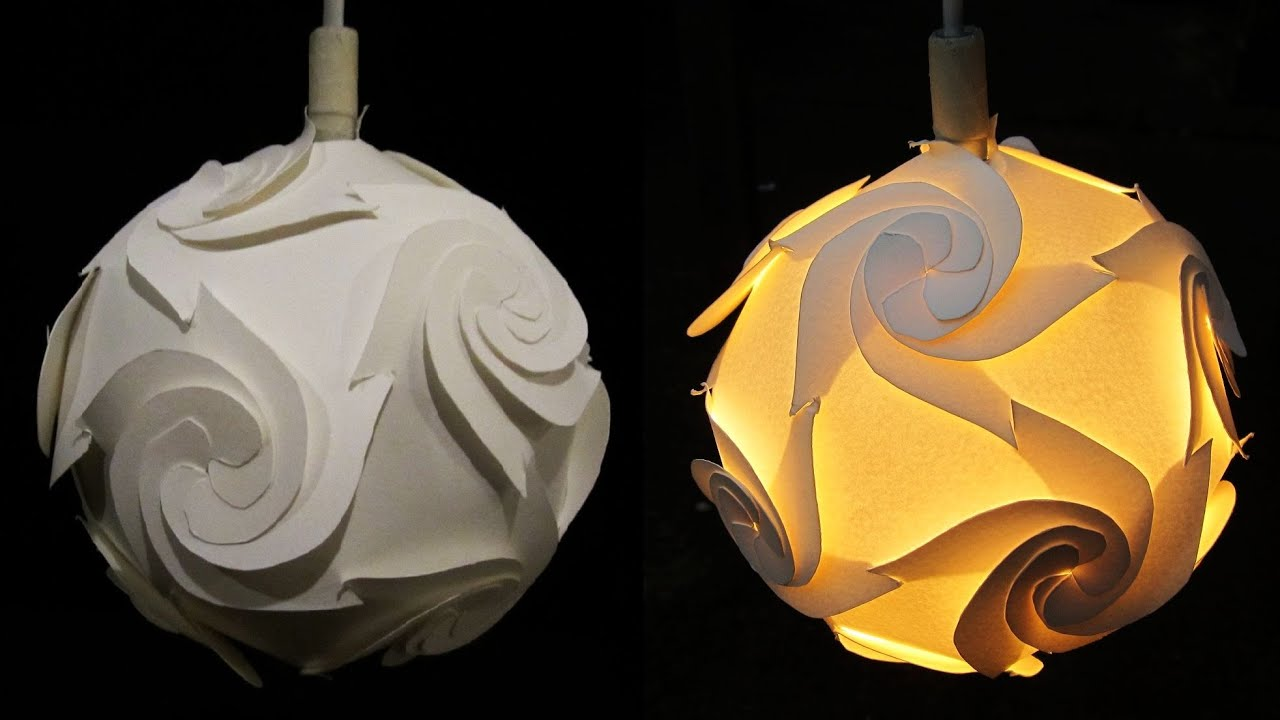 Awesome DIY Paper Lampshade (cyclone)  Home And Room Decor   EzyCraft   YouTube