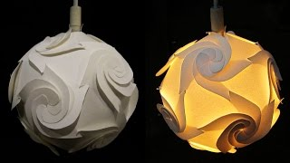DIY paper lampshade - learn how to make a decorative hanging lamp - EzyCraft